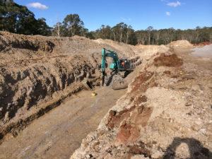 Trench excavation - Riverstone Sydney Water works