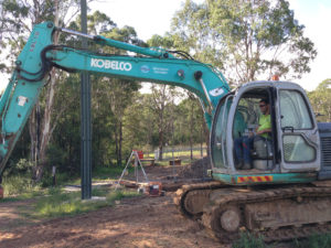 Confined space entry equipment and excavator for Sydney Water project