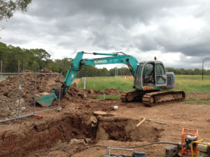 Sydney Water sewer construction works