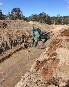 Rock breaking to lay Sydney Water sewer assets
