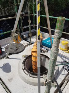 Entry to Sydney Water manhole with confined space entry procedures