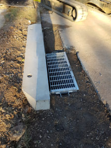 New council stormwater kerb inlet pit