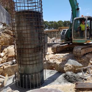 Large DN1,200 reinforced concrete manhole